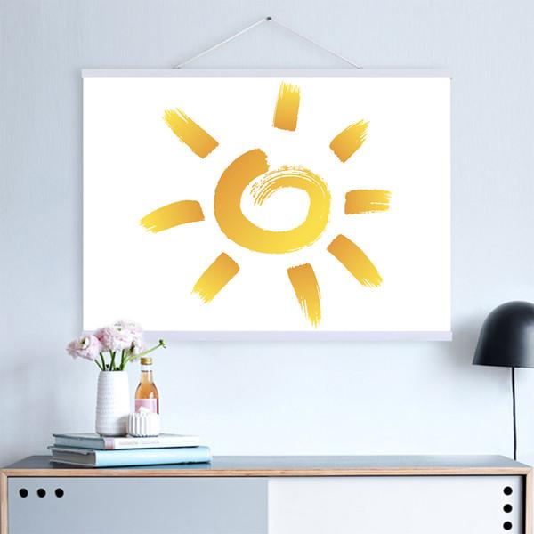 2018 DIY Poster Scroll Prints Artwork Hanger Wooden Poster Hanger Modern Magnetic Picture Frame Home Wall Art Decors 21-60cm