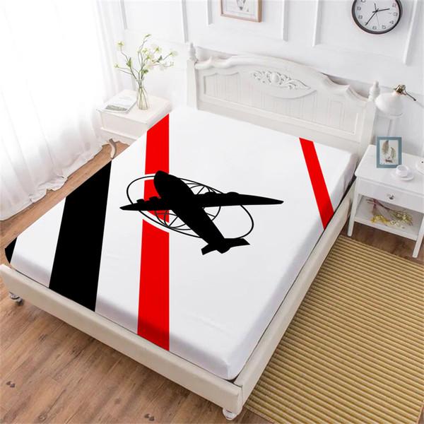 Acquista lenzuolo aeroplano bambini lenzuolo con blocco di colore
