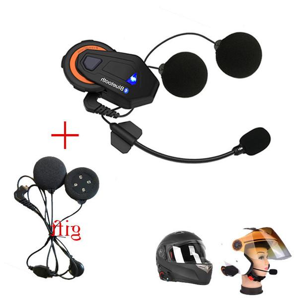 Freedconn NewT-max Motorradhelm Bluetooth Intercom Headset 6 Fahrer Gruppe FM Radio Bluetooth 4.1 + Soft-Ohrhörer