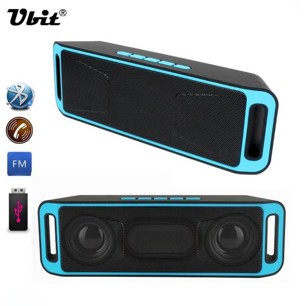 Ubit Altavoz inalámbrico portátil Bluetooth 4.0 Estéreo Subwoofer TF USB Radio FM Micrófono incorporado Doble altavoz Altavoces de sonido graves