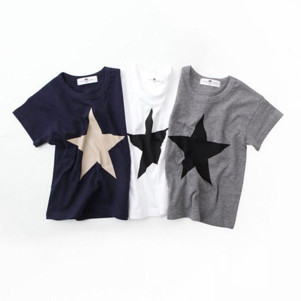 Casual kids Comfortable Clothes Start Print T-shirts Kids Cotton Boys Girls T Shirt Summer