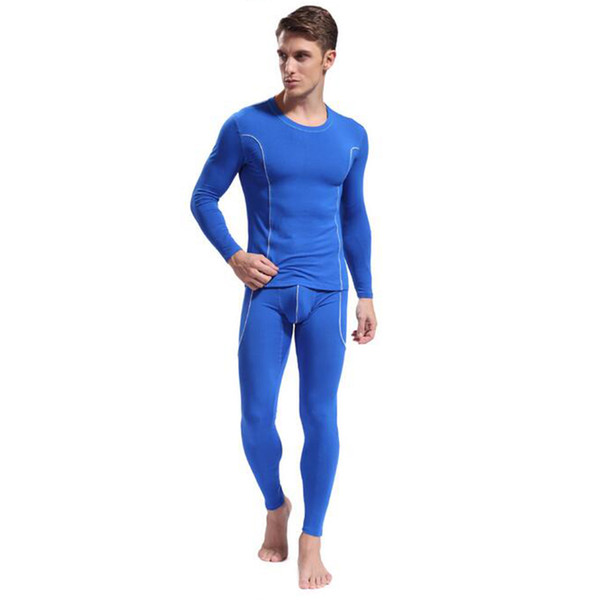 KWAN.Z mens thermal underwear bamboo fiber male pajamas thermo underwear long johns top bottom leggings nightie clothes homme
