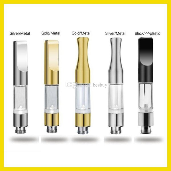 CE3 510 Cartridge Vape Tank Gold Metal plastic Drip Tips WAX Thick Oil Vaporizer Atomizer For BUD Touch O Pen Battery