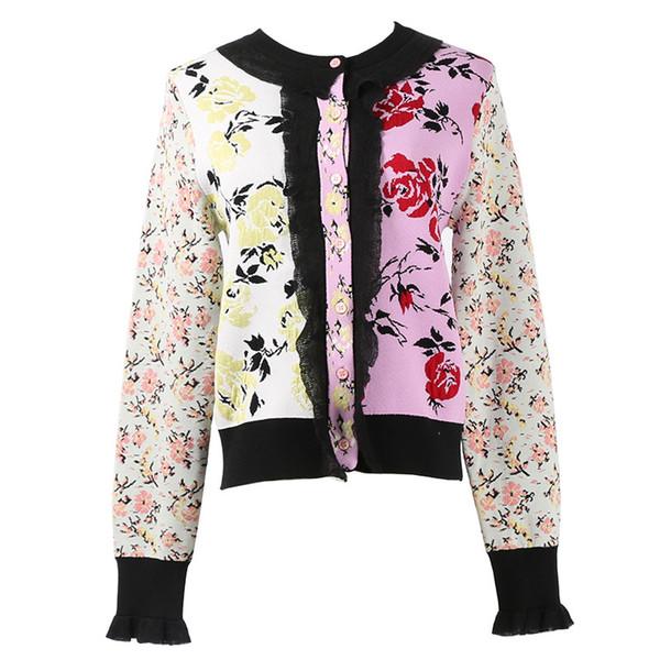 Lungo maglione lavorato a maglia Cardigan Autunno Giacca Nuovo Casual Cardigan donne maglione ricamato fiori cappotto invernale Button Brand