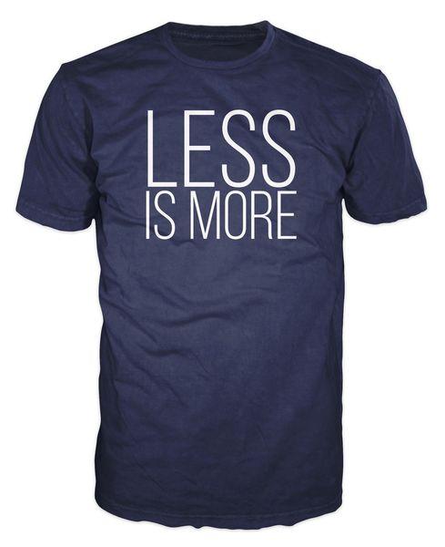 Меньше больше хипстер минималистский архитектура дизайн мода мужская футболка Футболка мужчины мальчик лето с коротким рукавом Crewneck хлопок большой размер Fami