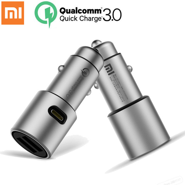quick charge Original Xiaomi Car Charger QC3.0 X2 Full Metal Dual USB Smart Control Quick Charge 3A 36W with Extension Port