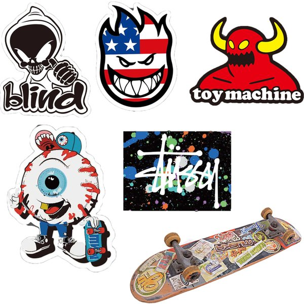 Großhandel Skate Skateboard Sport Marke Aufkleber Wasserdicht Für Auto Skateboard Motorrad Fahrrad Gepäck Laptop Skate Aufkleber Stoßstange Graffiti