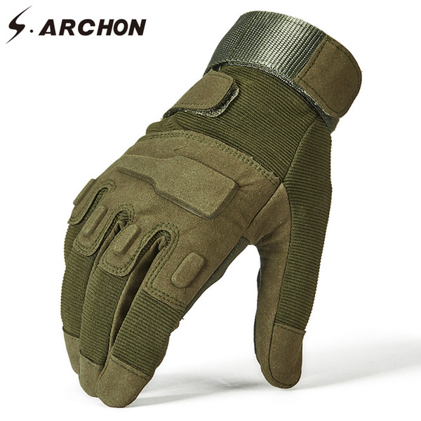 SWAT Special Forces Military Full Finger Gloves Men Police Soldier Paintball Tactical Mitten Airsoft Shoot Combat Glove D18110705