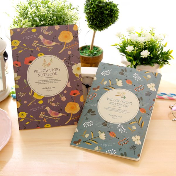 Flower Bird Colorful Notebook New Korean Stationery Learning Supplies For School Students Colorful Creative Office Daily Notepad