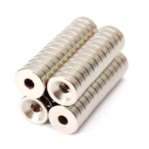 Magneti del neodimio della terra rara di 50pcs N50 10x3mm forti magneti 3mm del foro della terra rara