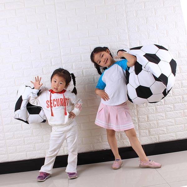 Home Storage Bag Kids Stuffed Animal Plush Football Toy Clothes Storage Bean Bag Soft Pouch Stripe Fabric Fast Ship