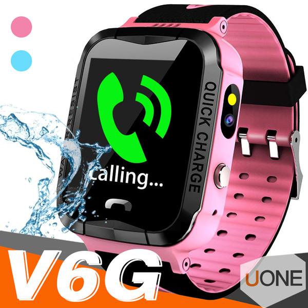 V6G Çocuklar Akıllı İzle Ip67 Su Geçirmez GPS Izci SOS Çağrı Kamera izleme alarm mobil konumlandırma Çocuk Çocuk için Akıllı saatler