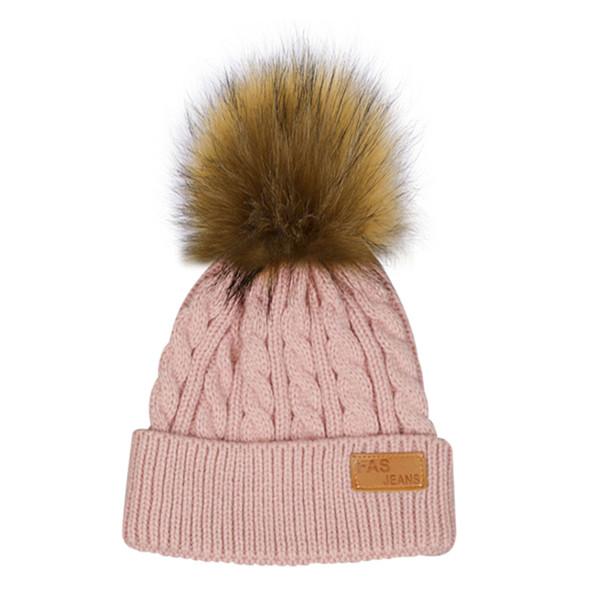 Fashion Children Winter Hat Knitted Crochet Beanies Cap Pompom Hats Thick Baby Skullies Baby Girl Winter Warm Hats Bonnet Enfant
