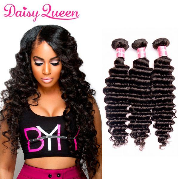 Deep Wave Indian Remy Human Hair Extensions 8A Unprocessed Indian Virgin Hair 3Pcs Wholesale Cheap Hair Weaves Bundles For Sale