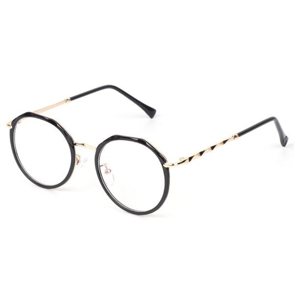 Novos óculos de óculos ópticos de moda Vintage decorativos óptica quadros metálicos