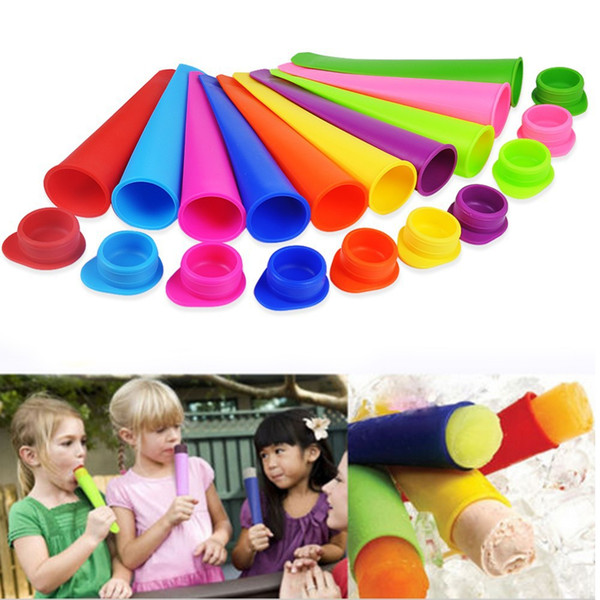 10pcs /Lot Silicone Ice Pop Mold Popsicles Mould Ice Cream Makers Push Up Ice Cream Jelly Lolly Pop For Popsicle