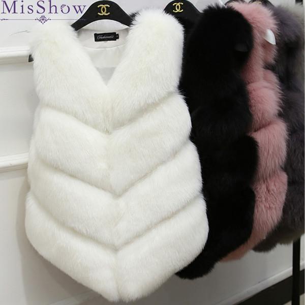 New Winter Warm Vest Fashion Women Import Coat luxury Fur Vest High-Grade Faux fox Fur Coat Fox women Plus Size 2XL 3XL