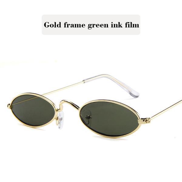 Gold frame green ink film