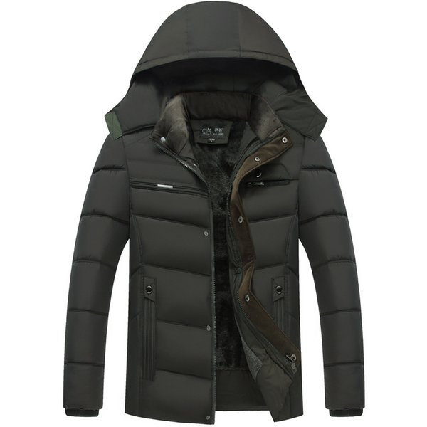 2d418006c6e Middle-aged Father Clothing Feather Padded Coat Middle-aged Male Velvet  Thick Jacket Winter Windbreaker