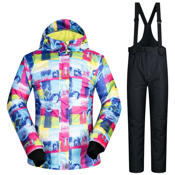 high quality women ski suit skiwear female skiing jacket and pants set windproof super warm water proof snowboard clothes