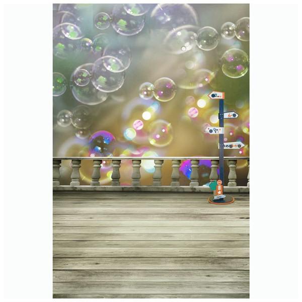 Красочные симпатичные пузыри пол студия фон фото опора фон ткань 3x5Ft