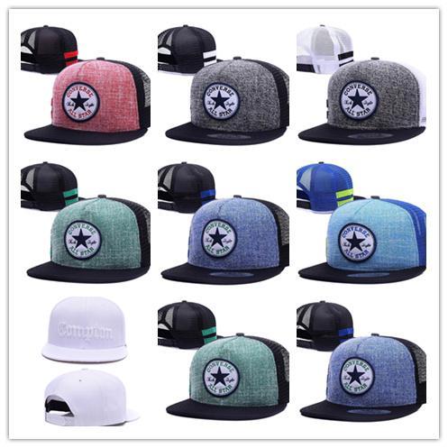 Good Quality Men Women Snapback Mesh Cap Hip Hop Hat Outdoor Sports Casual Snap Back Baseball Hat Conveser All Star Logo Hat Diplomats