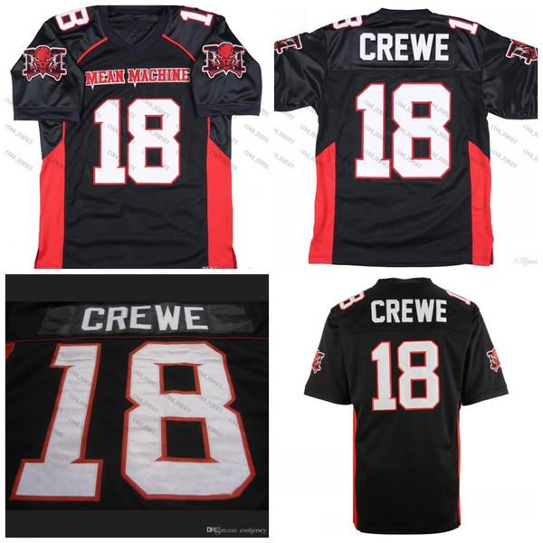 Mean Machine Sandler #18 Paul Crewe The Longest Yard Football Movie Jersey Black S-XXXL Stitched Top Quality