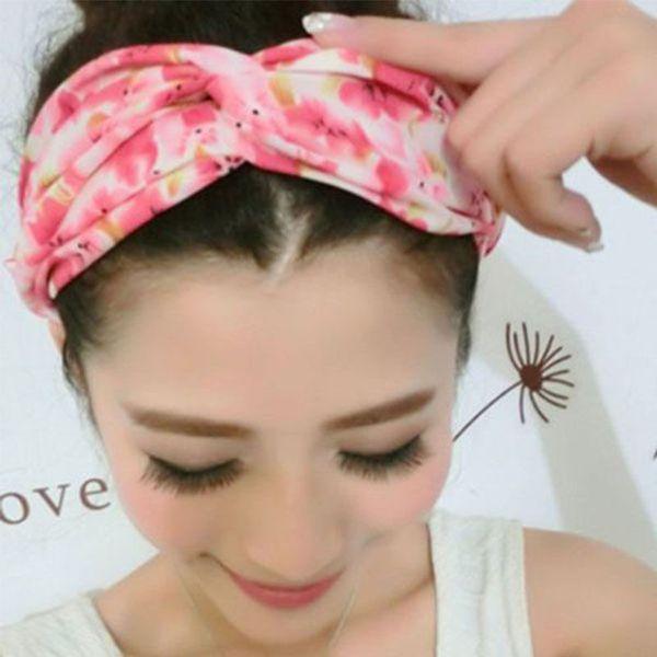 Fashion 10pcs/lot Vogue Yoga Hair Band Summer Style Elastic Turban Floral Twisted Knotted Headband Hair Accessory Women Fashion