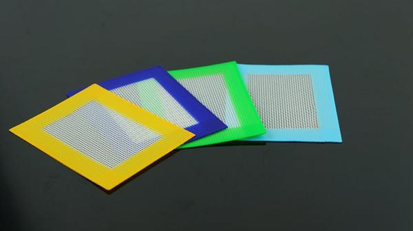 Almohadilla de cera de silicona libre de DHL Alfombrilla de Dab Mat de fibra de vidrio cuadrado para hornear 14 cm * 11.5 cm o 11 cm * 8.5 cm BHO Mats para tarros Dabber Tool AC003