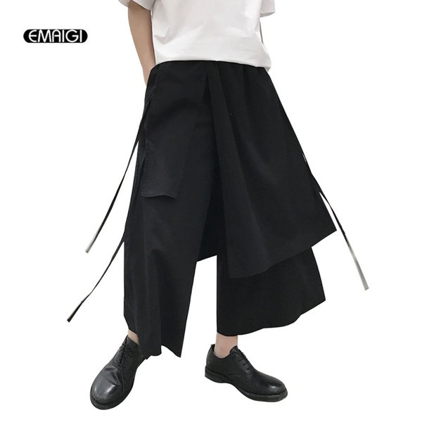 25868b1a0 Men Fashion Casual Cotton Linen Harem Pant Male Loose Wide Leg Trouser  Japan Style Skirt Pant