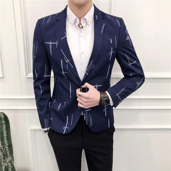 2018 nova primavera moda masculina blazer masculino terno casual marca de alta qualidade slim fit masculino blazers jaqueta