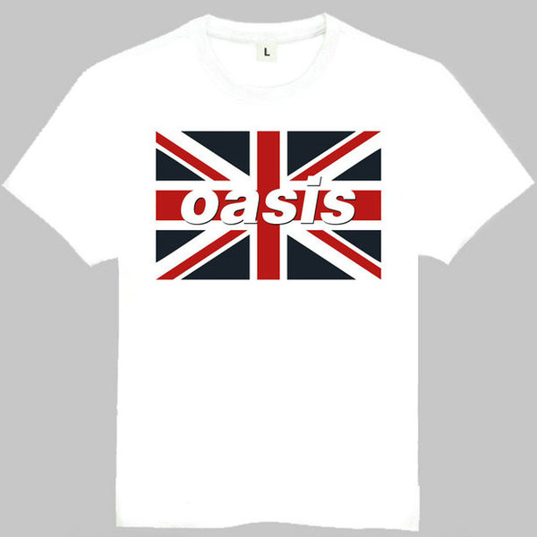 Oasis t shirt Rain group short sleeve gown Music band tees Leisure printing clothing Quality cotton Tshirt