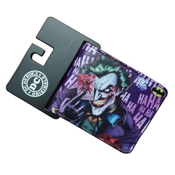 Fashion Animation Joker Wallets Casual Leather Gift Purse No Zipper Dollar Price Money Bags Men Women Standard Short Wallet