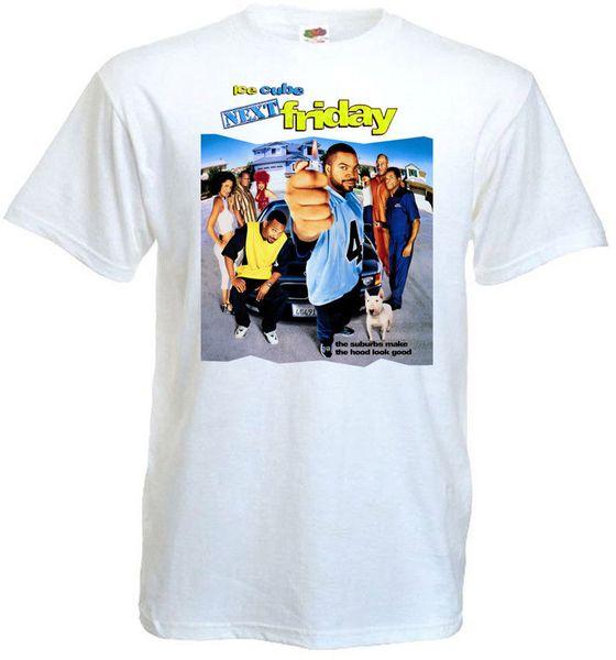 Na próxima sexta-feira T-shirt branco cartaz de cinema todos os tamanhos S ... 5XL ver.2 Tees Estilo Personalizado Jersey Estilo Rodada tshirt