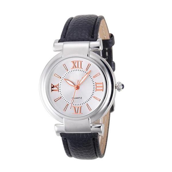 Relojes Mujer Fashion Quartz Watch Women Girl Roman Numerals Leather Band Wrist Bracelet Watches Hot sale Women Dress Clock