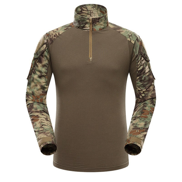 Multicam Uniform Military Long Sleeve T Shirt Men Camouflage Army Combat Shirt Airsoft Paintball Clothes Tactical Shirt