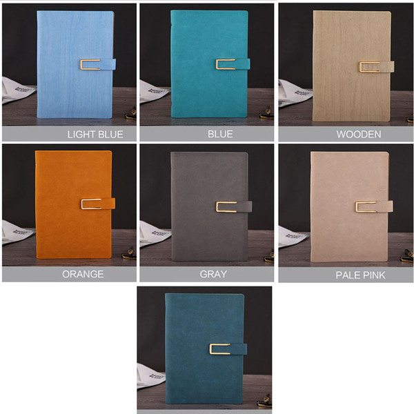 Classic A5 Portable Notebook, Hardcover Business Stationery PU leather Journal Notepad Diary Planner School Supplies - 80 Sheets