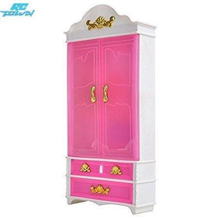 RCtown Rosa Kunststoffmöbel Kleiderschrank Puppenhaus Zubehör Für Puppe zk25
