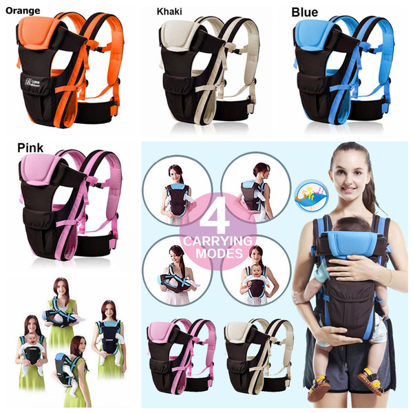 4styles Newborn Baby Carrier Sling Wrap Backpack Front Back Chest Ergonomic Infant Sling Backpack Pouch Wrap Baby Carrier Kangaroo FFA977