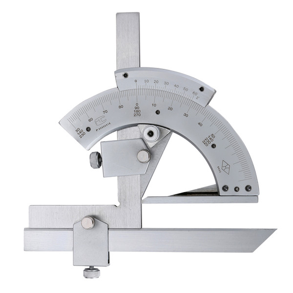 best selling Freeshipping Universal Bevel Protractor 0-320x2 Degree Angle Gauge Tool Inner&Outer angle Precision Measuring Tools