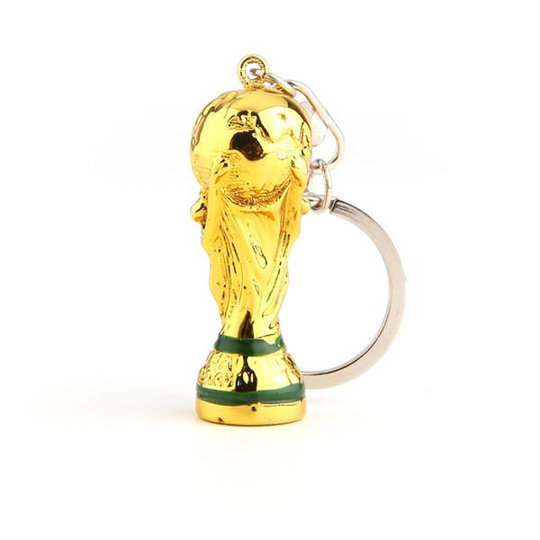Dünya Kupası Futbol Hayranları Kravat Kupası Anahtarlık Reçine malzeme Altın Trophy Toptan