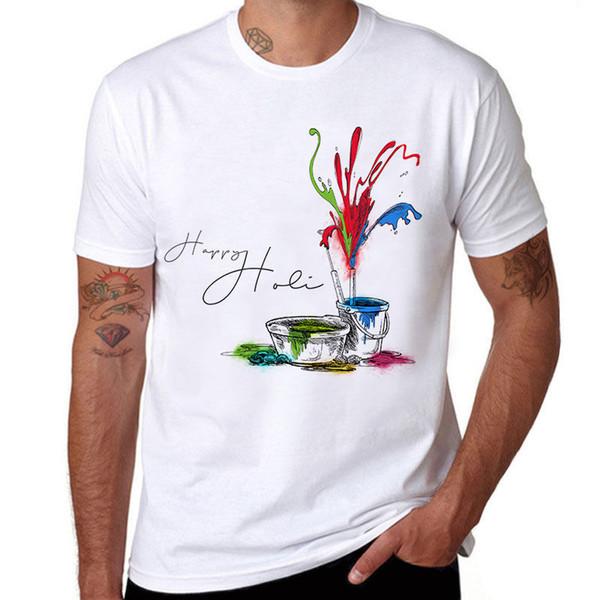Satın Al Renk Boyama Slim Fit Kısa Kollu Mens 100 Pamuklu Tişört
