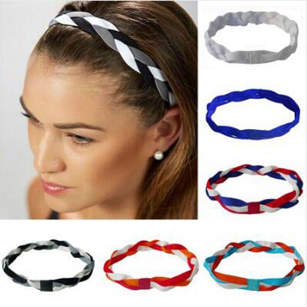Hot Sale girls ladies softball sports headbands set baseball elastic nylon for girls braided mini non slip running womens hair bands