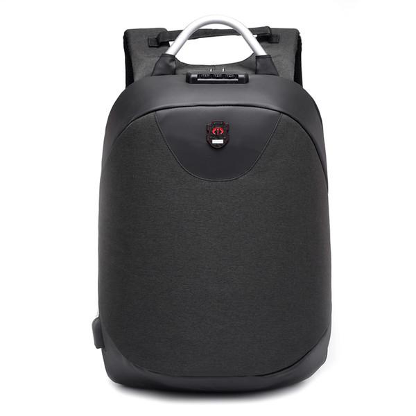 2018 новая мода 15,6 дюймов ноутбук рюкзак мужчины Водонепроницаемый рюкзак повседневная путешествия бизнес USB Back pack мужской мешок противоугонные подарок