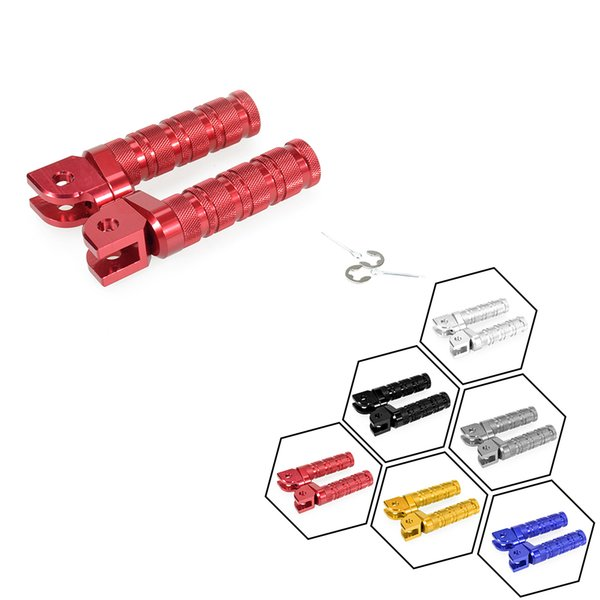 CNC Motorcycle Front Foot Pegs Pedals Foot Rests Round For Honda CBR250R MC19 88-89 CBR250RR MC22 90-99 CBR400RR NC23/29 88-99