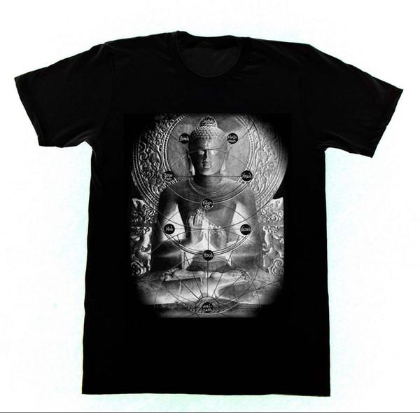 Buddha Kabbalah Tree of Life - Shirt 40 Tshirt Meditazione Yoga Buddhism Mens 2018 fashion Brand T Shirt