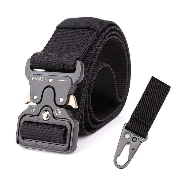 Tactical Belt Military Automatic Buckle Belt Training Waistbelt Molle Nylon Belt Men SWAT Army Combat Cinto Adjust Tactical Gear C18110601