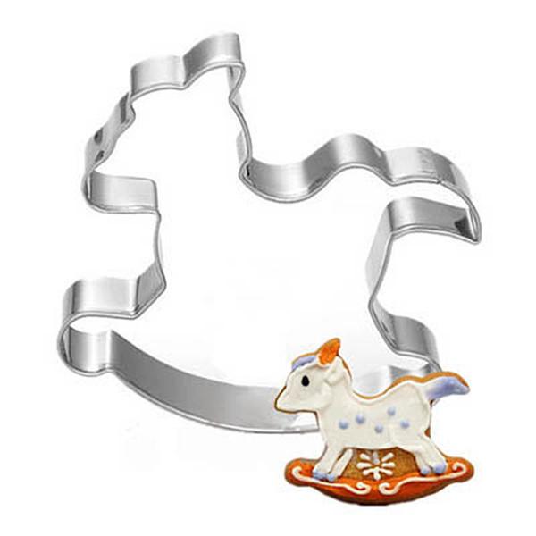 50pc Carousel Horse Shape Cookie Cutter Metal Cake Mold Sugar Paste Cutter Fondant Baking Tools