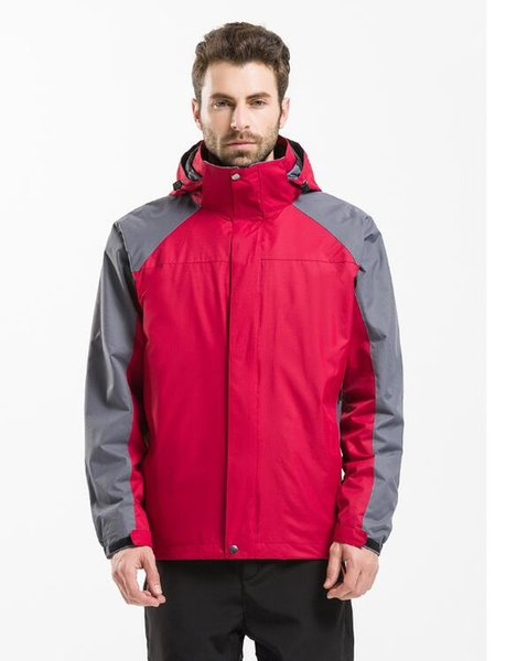 Three-in-one winter jacket men's and women's jacket two-piece waterproof fishing suit outdoor ski suit men's mountaineering