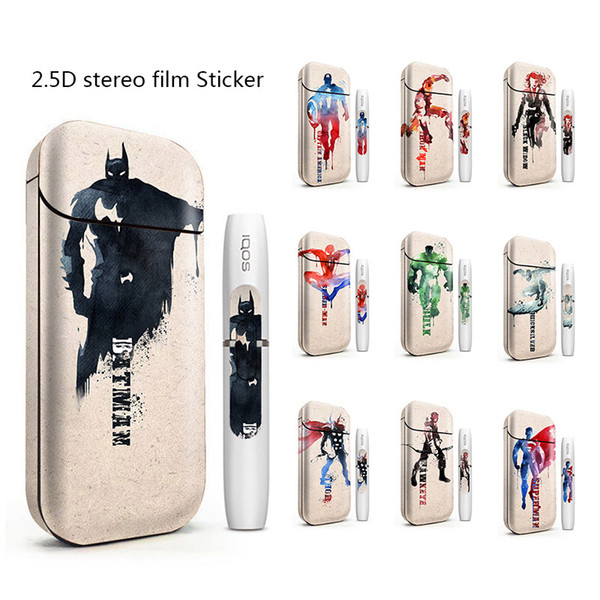 IQOS Skin Printing Wraps Sticker Cases Cover Holder for IQOS Box Mod Vape Protective Film Stickers With Fashion 200 Cool Pattern DHL